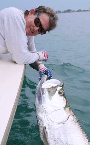 Captain Van Hubbard and Tarpon