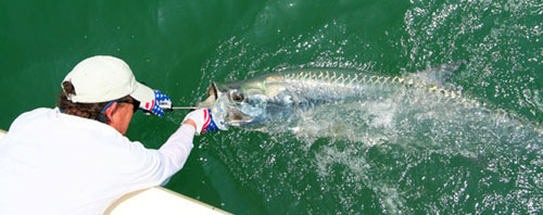 Capt Van with Tarpon
